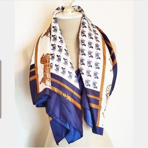 Horse and Carriage Imitation Silk Scarf